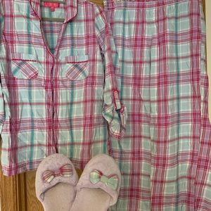 VS flannel pajama set